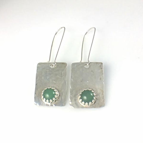 Argentium 93.5 Silver and Aventurine Earrings