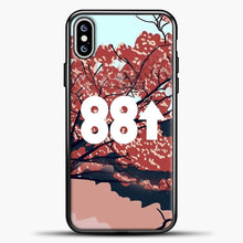 Load image into Gallery viewer, 88rising Flower Art iPhone XS Max Case, Black Plastic Case | casedilegna.com