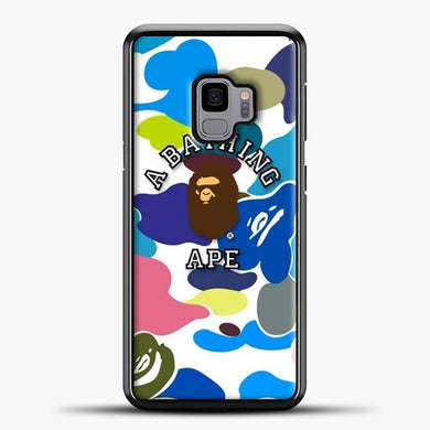 A Bathing Ape Army Blue Navy Samsung Galaxy S9 Case, Black Plastic Case | casedilegna.com