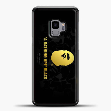 A Bathing Ape Black Design Samsung Galaxy S9 Case, Black Plastic Case | casedilegna.com