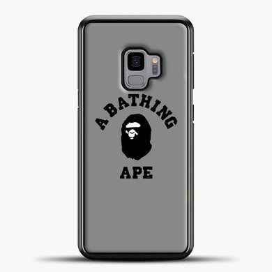 A Bathing Ape Grey Samsung Galaxy S9 Case, Black Plastic Case | casedilegna.com