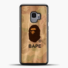 Load image into Gallery viewer, A Bathing Ape Logo Army Vintage Samsung Galaxy S9 Case, Black Plastic Case | casedilegna.com