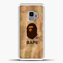 Load image into Gallery viewer, A Bathing Ape Logo Army Vintage Samsung Galaxy S9 Case, White Plastic Case | casedilegna.com