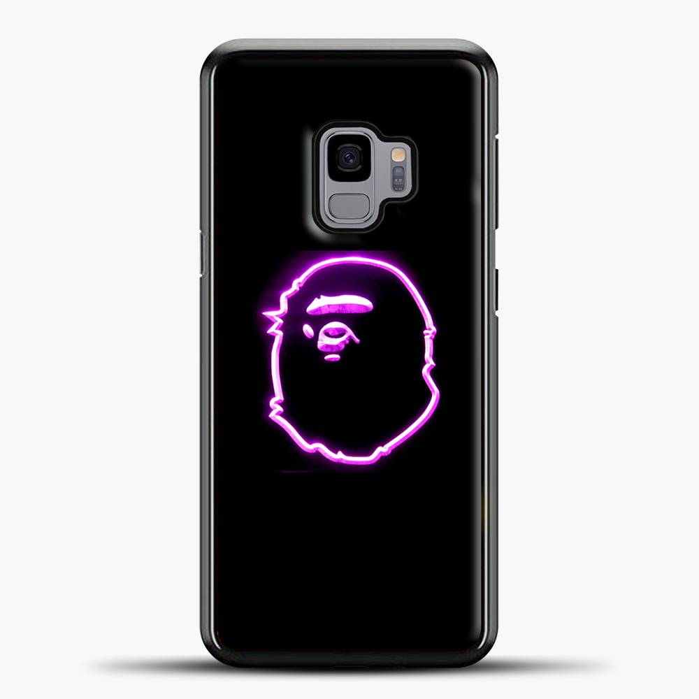 A Bathing Ape Neon Purple Samsung Galaxy S9 Case, Black Plastic Case | casedilegna.com