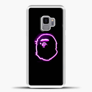 A Bathing Ape Neon Purple Samsung Galaxy S9 Case, White Plastic Case | casedilegna.com