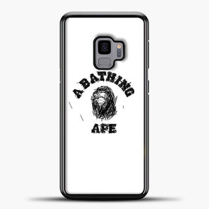 A Bathing Ape Sketch Samsung Galaxy S9 Case, Black Plastic Case | casedilegna.com
