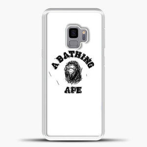 A Bathing Ape Sketch Samsung Galaxy S9 Case, White Plastic Case | casedilegna.com