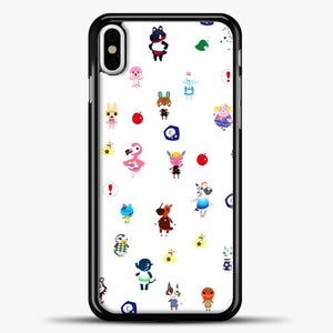 Acnl Pattern Animal Crossing iPhone X Case, Black Plastic Case | casedilegna.com