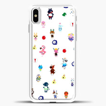 Load image into Gallery viewer, Acnl Pattern Animal Crossing iPhone X Case, White Plastic Case | casedilegna.com