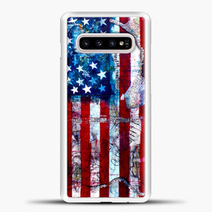American Flag Paint Samsung Galaxy S10e Case