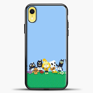Animal Crossing Am Happy iPhone XR Case, Black Plastic Case | casedilegna.com