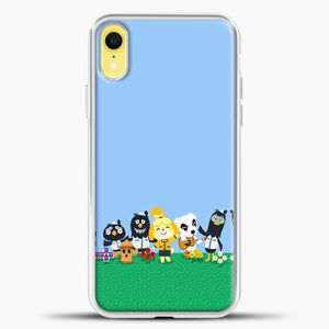 Animal Crossing Am Happy iPhone XR Case, White Plastic Case | casedilegna.com