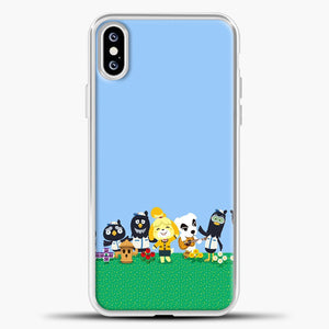Animal Crossing Am Happy iPhone XS Case, White Plastic Case | casedilegna.com