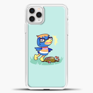 Animal Crossing Blue Background iPhone 11 Pro Case, White Plastic Case | casedilegna.com