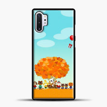 Load image into Gallery viewer, Animal Crossing Blue Clouds Samsung Galaxy Note 10 Plus Case, Black Plastic Case | casedilegna.com