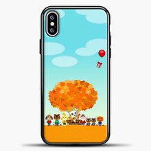 Load image into Gallery viewer, Animal Crossing Blue Clouds iPhone XS Max Case, Black Plastic Case | casedilegna.com