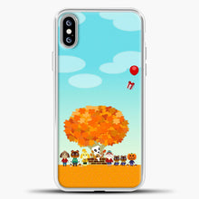 Load image into Gallery viewer, Animal Crossing Blue Clouds iPhone XS Max Case, White Plastic Case | casedilegna.com