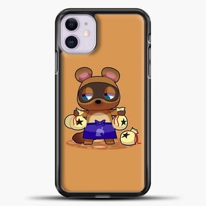 Animal Crossing Character Coom Nook iPhone 11 Case, Black Plastic Case | casedilegna.com