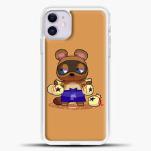 Load image into Gallery viewer, Animal Crossing Character Coom Nook iPhone 11 Case, White Plastic Case | casedilegna.com