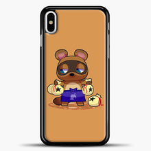 Load image into Gallery viewer, Animal Crossing Character Coom Nook iPhone X Case, Black Plastic Case | casedilegna.com