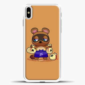 Animal Crossing Character Coom Nook iPhone X Case, White Plastic Case | casedilegna.com