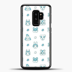 Animal Crossing Character Pattern Green Samsung Galaxy S9 Plus Case, Black Plastic Case | casedilegna.com