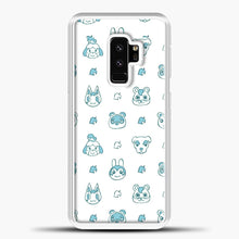 Load image into Gallery viewer, Animal Crossing Character Pattern Green Samsung Galaxy S9 Plus Case, White Plastic Case | casedilegna.com