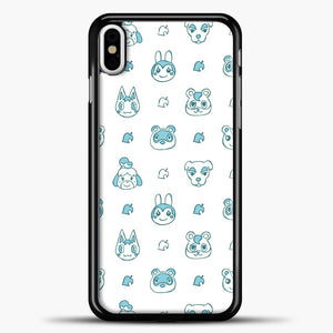 Animal Crossing Character Pattern Green iPhone X Case, Black Plastic Case | casedilegna.com