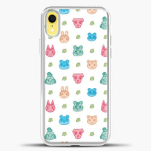 Load image into Gallery viewer, Animal Crossing Character Pattern Pastel iPhone XR Case, White Plastic Case | casedilegna.com