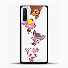 Load image into Gallery viewer, Animal Crossing Cute Samsung Galaxy Note 10 Case, Black Plastic Case | casedilegna.com