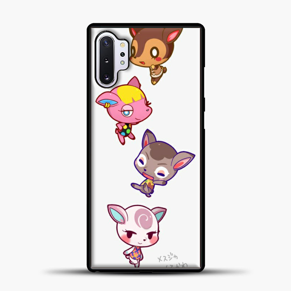 Animal Crossing Cute Samsung Galaxy Note 10 Plus Case, Black Plastic Case | casedilegna.com