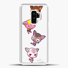 Load image into Gallery viewer, Animal Crossing Cute Samsung Galaxy S9 Case, White Plastic Case | casedilegna.com