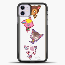 Load image into Gallery viewer, Animal Crossing Cute iPhone 11 Case, Black Plastic Case | casedilegna.com