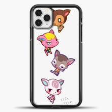 Load image into Gallery viewer, Animal Crossing Cute iPhone 11 Pro Case, Black Plastic Case | casedilegna.com