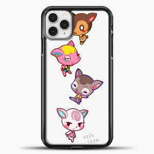 Animal Crossing Cute iPhone 11 Pro Case, Black Plastic Case | casedilegna.com