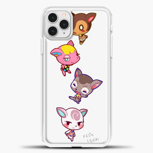 Animal Crossing Cute iPhone 11 Pro Case, White Plastic Case | casedilegna.com