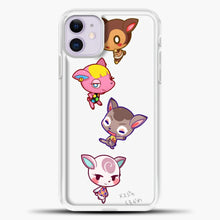 Load image into Gallery viewer, Animal Crossing Cute iPhone 11 Case, White Plastic Case | casedilegna.com