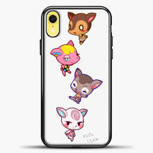 Load image into Gallery viewer, Animal Crossing Cute iPhone XR Case, Black Plastic Case | casedilegna.com