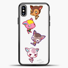 Load image into Gallery viewer, Animal Crossing Cute iPhone XS Max Case, Black Plastic Case | casedilegna.com
