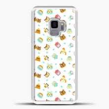 Load image into Gallery viewer, Animal Crossing Face Pattern White Samsung Galaxy S9 Case, White Plastic Case | casedilegna.com
