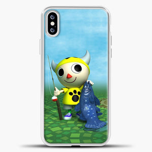 Animal Crossing Fishing iPhone XS Case, White Plastic Case | casedilegna.com