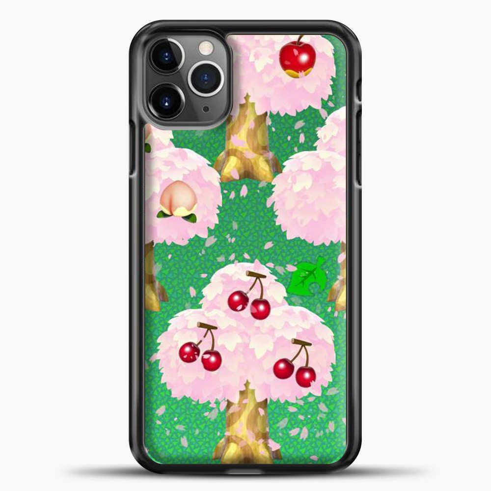 Animal Crossing Fruits Tree iPhone 11 Pro Max Case, Black Plastic Case | casedilegna.com