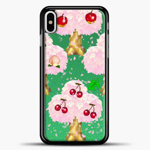 Animal Crossing Fruits Tree iPhone X Case, Black Plastic Case | casedilegna.com