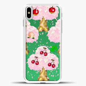 Animal Crossing Fruits Tree iPhone X Case, White Plastic Case | casedilegna.com