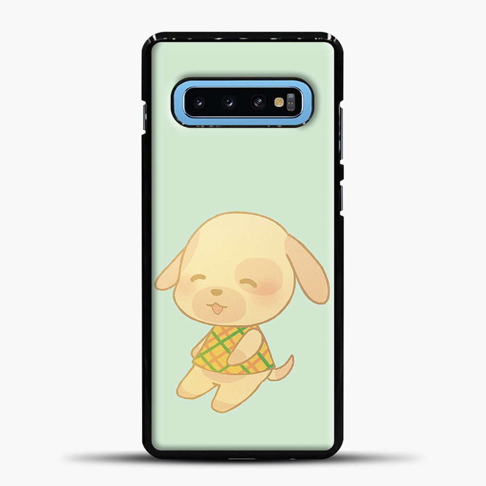 Animal Crossing Goldie Samsung Galaxy S10 Case, Black Plastic Case | casedilegna.com