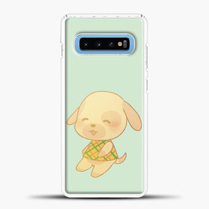 Animal Crossing Goldie Samsung Galaxy S10 Case, White Plastic Case | casedilegna.com