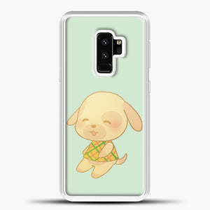 Animal Crossing Goldie Samsung Galaxy S9 Plus Case, White Plastic Case | casedilegna.com