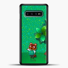 Load image into Gallery viewer, Animal Crossing Green Background Samsung Galaxy S10e Case, Black Plastic Case | casedilegna.com