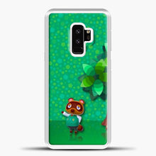 Load image into Gallery viewer, Animal Crossing Green Background Samsung Galaxy S9 Case, White Plastic Case | casedilegna.com