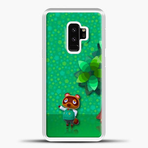 Animal Crossing Green Background Samsung Galaxy S9 Case, White Plastic Case | casedilegna.com